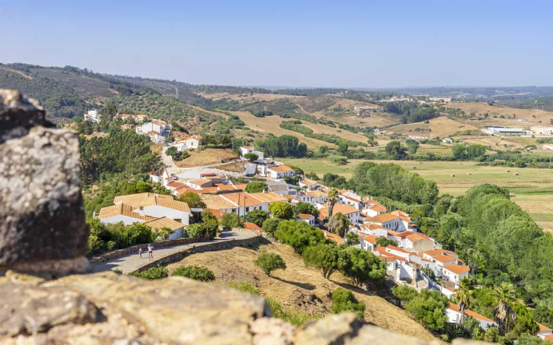 widok z zamku Aljezur